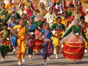 The republic day parade at rajpath