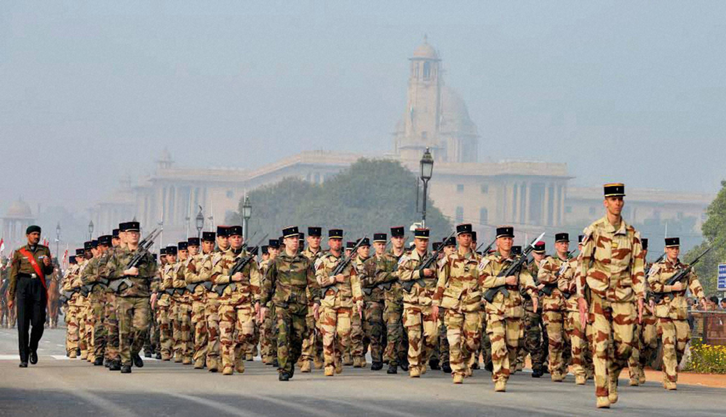 French Soldiers at Republic Day Parade