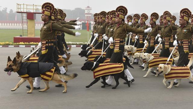 Indian Army dog squad Republic day