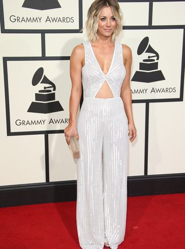 Kaley Cuoco 2016 Grammy Awards