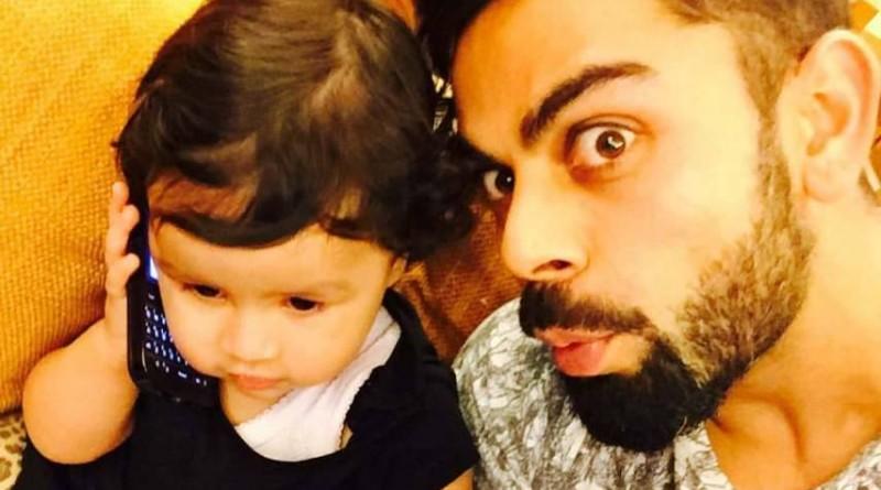 Baby Ziva with Virat Kohli