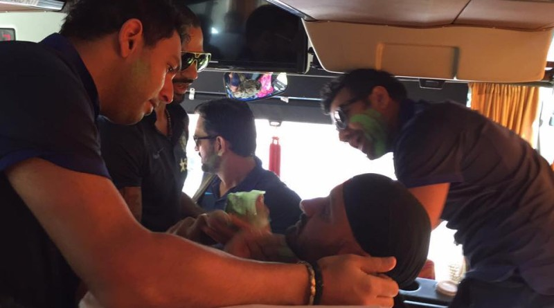 Team India celebrates Holi