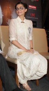 Sonam Kapoor in spectacles