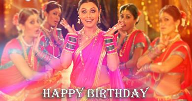 Happy Birthday Rani Mukherjee