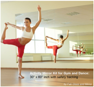 activity mirror kit for gym and yoga