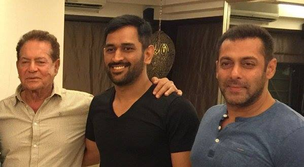 dhoni Salim khan and salman khan