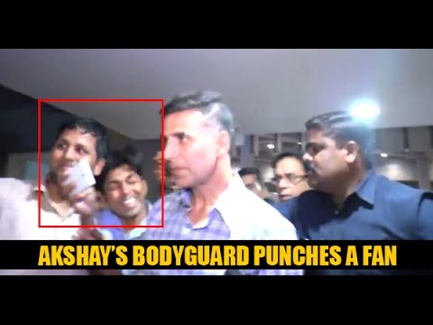 Akshay Kumar's Body Guard Punches Fan For Clicking Selfie