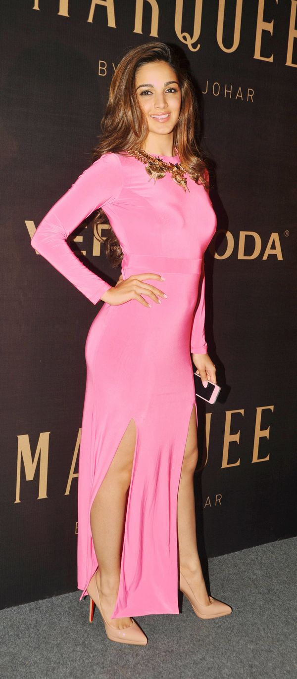 Indian Bollywood film actress Kiara Advani attends the launch of Vero Moda's Marquee collection designed by Indian filmmaker Karan Johar in Mumbai on September 19, 2014. AFP PHOTO