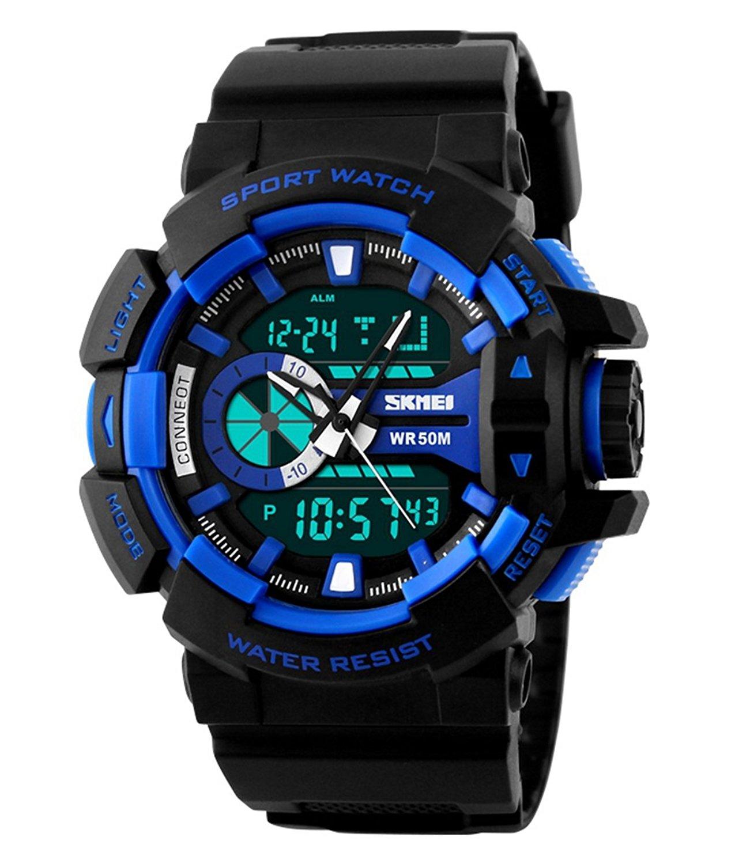 Skmei Analogue-Digital Black Dial Boy's Watch
