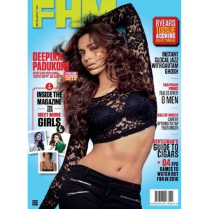 Deepika Padukone FHM magazine cover Jan 2016