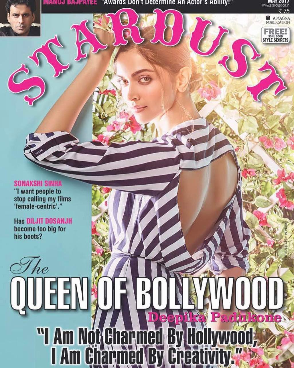 Deepika Padukone Stardust magazine cover May 2017