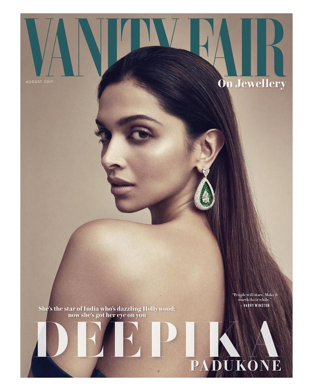 Deepika Padukone Vanity Fair magazine cover August 2017