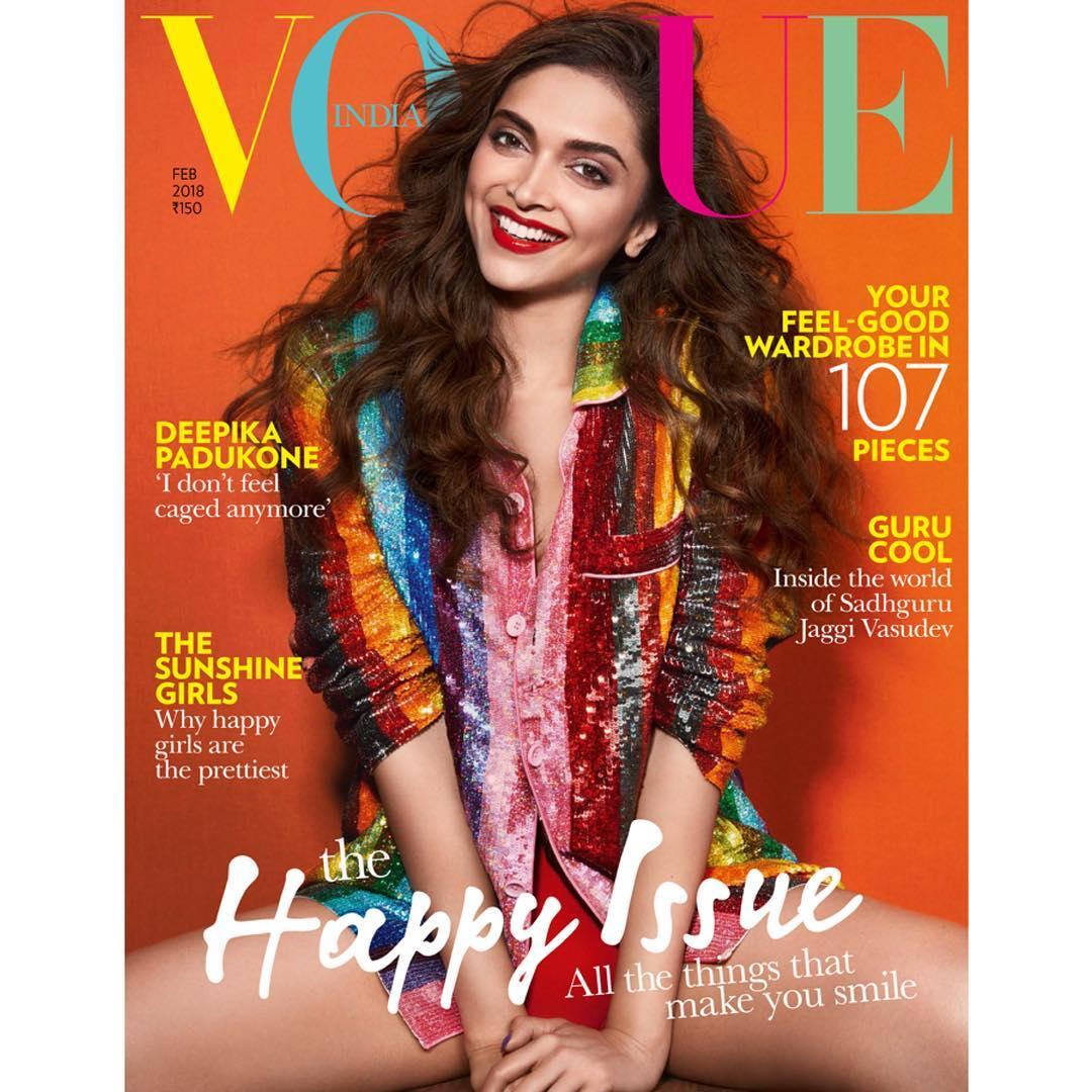 Deepika Padukone Vogue India Magazine cover February 2018