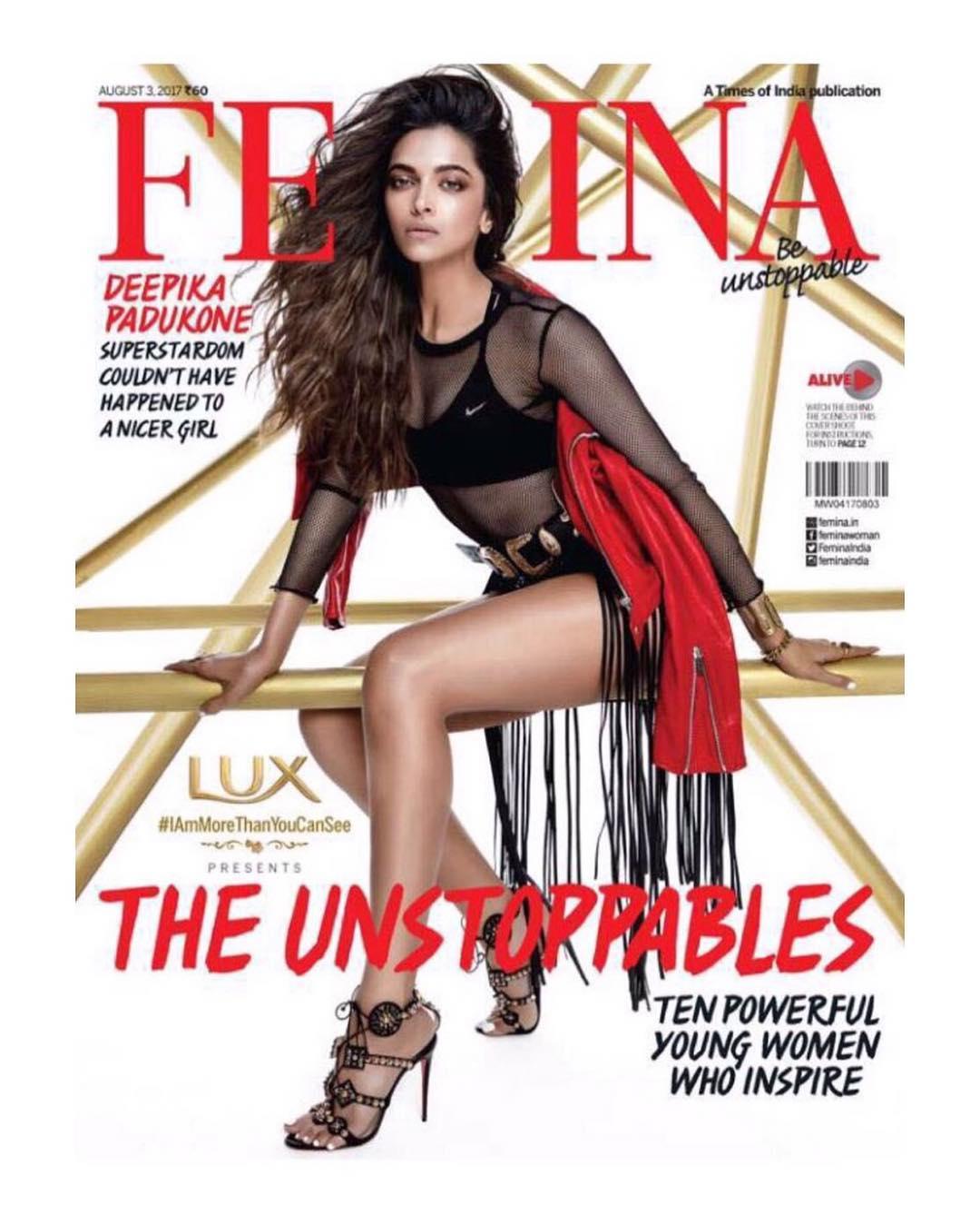 deepika padukone femina magazine cover august 2017