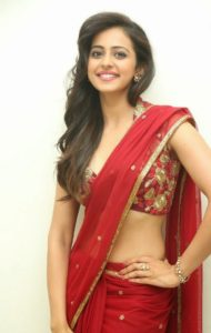 rakul preet singh hd images in saree1