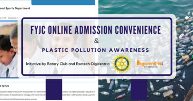 FYJC Online Admission and Plastic Pollution Awareness.